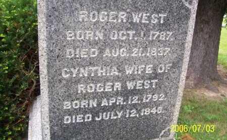 WEST, CYNTHIA - Lorain County, Ohio   CYNTHIA WEST - Ohio Gravestone Photos