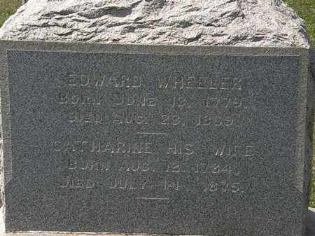 WHEELER, EDWARD - Lorain County, Ohio   EDWARD WHEELER - Ohio Gravestone Photos