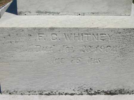 WHITNEY, F. C. - Lorain County, Ohio | F. C. WHITNEY - Ohio Gravestone Photos