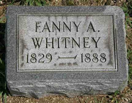 WHITNEY, FANNY A. - Lorain County, Ohio   FANNY A. WHITNEY - Ohio Gravestone Photos
