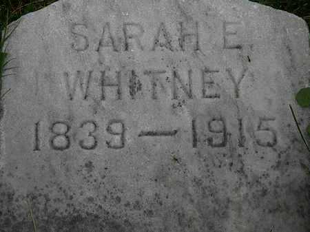 WHITNEY, SARAH E. - Lorain County, Ohio   SARAH E. WHITNEY - Ohio Gravestone Photos