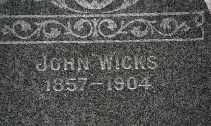 WICKS, JOHN - Lorain County, Ohio   JOHN WICKS - Ohio Gravestone Photos
