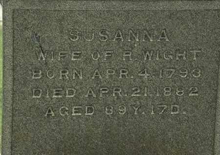 WIGHT, SUSANNA - Lorain County, Ohio | SUSANNA WIGHT - Ohio Gravestone Photos