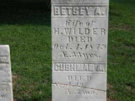 WILDER, BETSEY A. - Lorain County, Ohio | BETSEY A. WILDER - Ohio Gravestone Photos