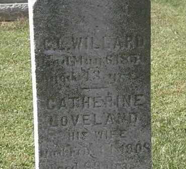 LOVELAND WILLARD, CATHERINE - Lorain County, Ohio | CATHERINE LOVELAND WILLARD - Ohio Gravestone Photos