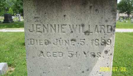 WILLARD, JENNIE - Lorain County, Ohio | JENNIE WILLARD - Ohio Gravestone Photos