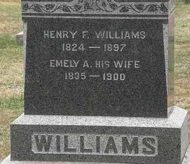 WILLIAMS, EMELY A. - Lorain County, Ohio | EMELY A. WILLIAMS - Ohio Gravestone Photos