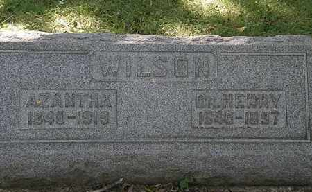 WILSON, AZANTHA - Lorain County, Ohio   AZANTHA WILSON - Ohio Gravestone Photos