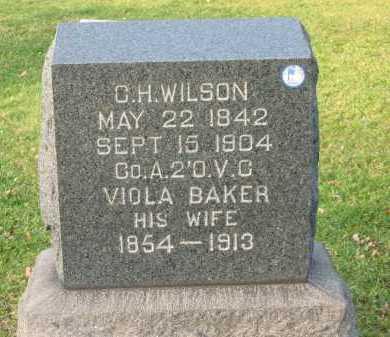BAKER WILSON, VIOLA - Lorain County, Ohio | VIOLA BAKER WILSON - Ohio Gravestone Photos