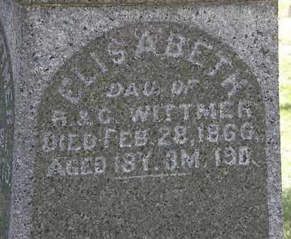 WITTMER, ELISABETH - Lorain County, Ohio   ELISABETH WITTMER - Ohio Gravestone Photos