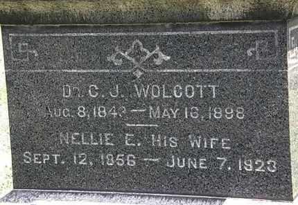 WOLCOTT, NELLIE E. - Lorain County, Ohio | NELLIE E. WOLCOTT - Ohio Gravestone Photos