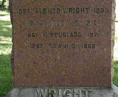 WRIGHT, ADELIA - Lorain County, Ohio | ADELIA WRIGHT - Ohio Gravestone Photos