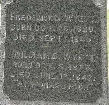 WYETT, WILLIAM E. - Lorain County, Ohio | WILLIAM E. WYETT - Ohio Gravestone Photos
