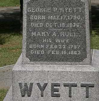 WYETT, MARY A. - Lorain County, Ohio | MARY A. WYETT - Ohio Gravestone Photos