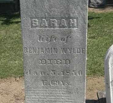 WYLDE, SARAH - Lorain County, Ohio | SARAH WYLDE - Ohio Gravestone Photos