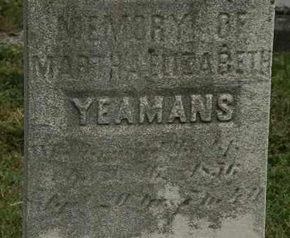 YEAMANS, MARTHA ELIZABETH - Lorain County, Ohio | MARTHA ELIZABETH YEAMANS - Ohio Gravestone Photos