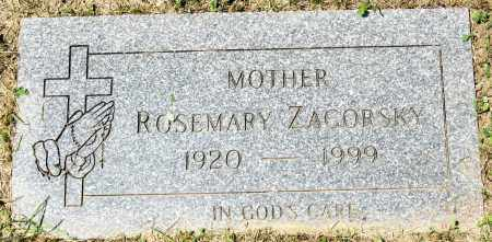ZAGORSKY, ROSEMARY - Lorain County, Ohio | ROSEMARY ZAGORSKY - Ohio Gravestone Photos