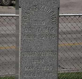 ZEHRING, ADAM S. - Lorain County, Ohio | ADAM S. ZEHRING - Ohio Gravestone Photos