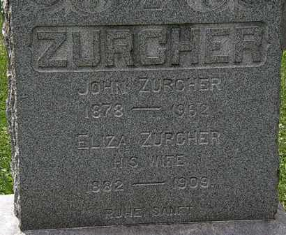 ZURCHER, JOHN - Lorain County, Ohio | JOHN ZURCHER - Ohio Gravestone Photos
