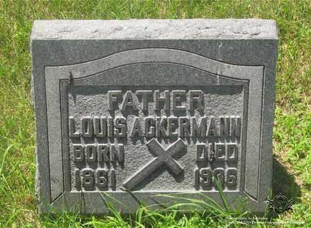 ACKERMANN, LOUIS - Lucas County, Ohio | LOUIS ACKERMANN - Ohio Gravestone Photos