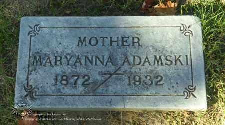 ADAMSKI, MARYANNA - Lucas County, Ohio | MARYANNA ADAMSKI - Ohio Gravestone Photos