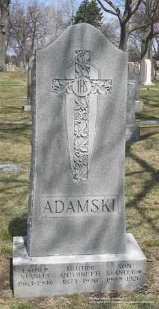 ADAMSKI, STANLEY, JR. - Lucas County, Ohio | STANLEY, JR. ADAMSKI - Ohio Gravestone Photos