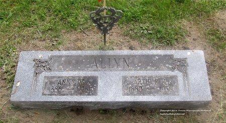 ALLYN, ANNA M. - Lucas County, Ohio   ANNA M. ALLYN - Ohio Gravestone Photos