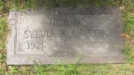 VALENCIC ANISTIK, SYLVIA B. - Lucas County, Ohio | SYLVIA B. VALENCIC ANISTIK - Ohio Gravestone Photos