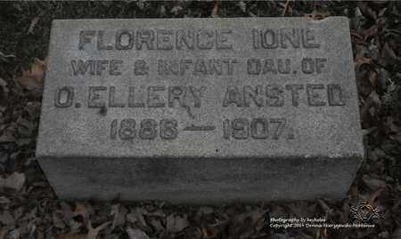 MARKER ANSTED, FLORENCE IONE - Lucas County, Ohio | FLORENCE IONE MARKER ANSTED - Ohio Gravestone Photos