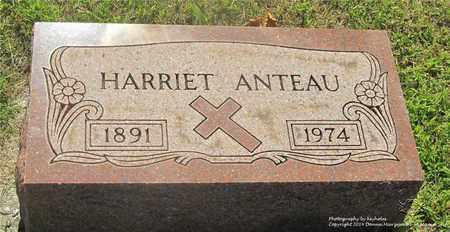 ANTEAU, HARRIET - Lucas County, Ohio   HARRIET ANTEAU - Ohio Gravestone Photos