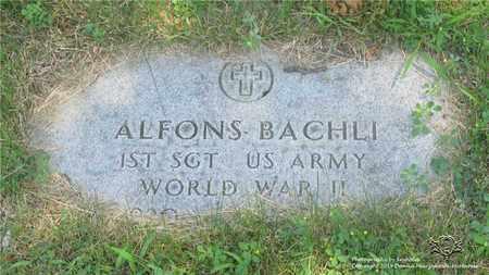 BACHLI, ALPHONS - Lucas County, Ohio | ALPHONS BACHLI - Ohio Gravestone Photos