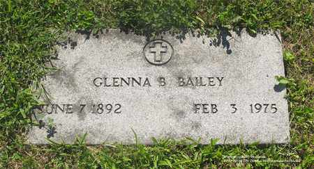 BAILEY, GLENNA B. - Lucas County, Ohio | GLENNA B. BAILEY - Ohio Gravestone Photos