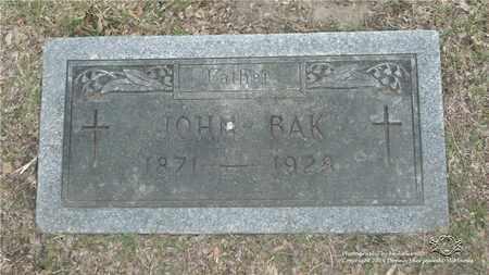 BAK, JOHN - Lucas County, Ohio | JOHN BAK - Ohio Gravestone Photos