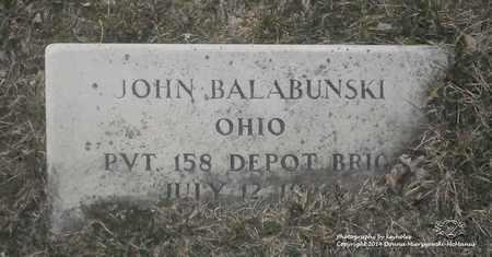 BALABUNSKI, JOHN - Lucas County, Ohio   JOHN BALABUNSKI - Ohio Gravestone Photos