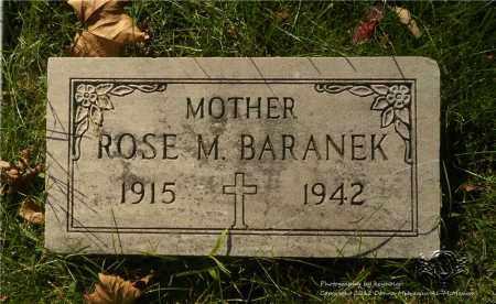 BARANEK, ROSE M. - Lucas County, Ohio | ROSE M. BARANEK - Ohio Gravestone Photos
