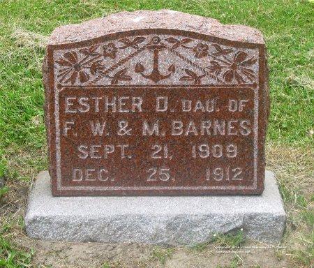 BARNES, ESTHER D. - Lucas County, Ohio | ESTHER D. BARNES - Ohio Gravestone Photos