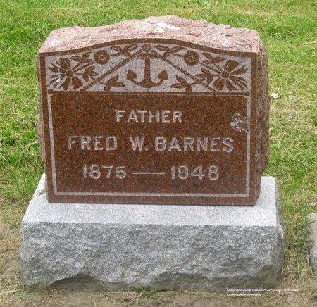 BARNES, FRED W. - Lucas County, Ohio | FRED W. BARNES - Ohio Gravestone Photos