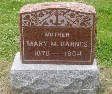 YUNKER BARNES, MARY M. - Lucas County, Ohio   MARY M. YUNKER BARNES - Ohio Gravestone Photos