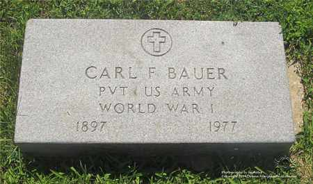 BAUER, CARL F. - Lucas County, Ohio | CARL F. BAUER - Ohio Gravestone Photos