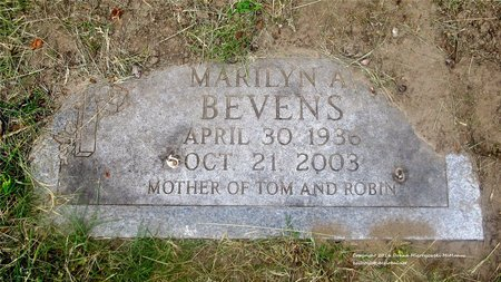 BEVENS, MARILYN A. - Lucas County, Ohio | MARILYN A. BEVENS - Ohio Gravestone Photos