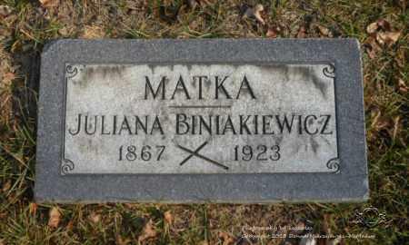BINIAKIEWICZ, JULIANA - Lucas County, Ohio | JULIANA BINIAKIEWICZ - Ohio Gravestone Photos