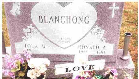 BLANCHONG, DONALD A. - Lucas County, Ohio | DONALD A. BLANCHONG - Ohio Gravestone Photos