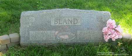 BLAND, MILDRED E. - Lucas County, Ohio | MILDRED E. BLAND - Ohio Gravestone Photos