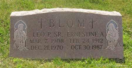 BLOM, LEO P. - Lucas County, Ohio | LEO P. BLOM - Ohio Gravestone Photos