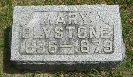 BLYSTONE, MARY - Lucas County, Ohio   MARY BLYSTONE - Ohio Gravestone Photos