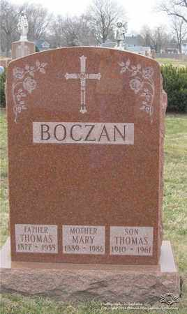 BOCZAN, MARY - Lucas County, Ohio | MARY BOCZAN - Ohio Gravestone Photos