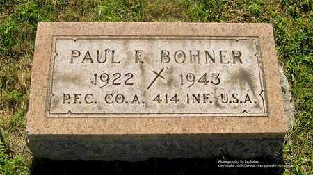 BOHNER, PAUL F. - Lucas County, Ohio | PAUL F. BOHNER - Ohio Gravestone Photos