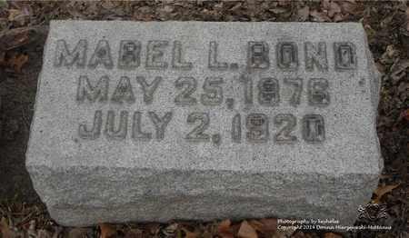 BOND, MABEL L. - Lucas County, Ohio | MABEL L. BOND - Ohio Gravestone Photos
