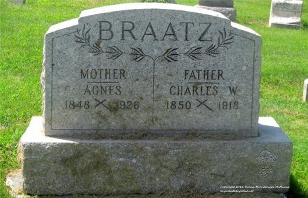 BRAATZ, AGNES - Lucas County, Ohio | AGNES BRAATZ - Ohio Gravestone Photos