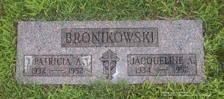 BRONIKOWSKI, PATRICIA A. - Lucas County, Ohio | PATRICIA A. BRONIKOWSKI - Ohio Gravestone Photos